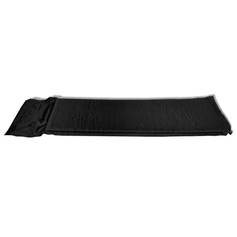 Napihljiva Podloga / Blazina 6 x 66 x 200 cm Črna