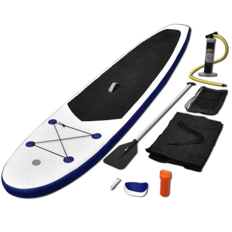Napihljiva SUP deska za veslanje modra in bela