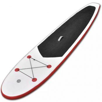 Napihljiva SUP deska za veslanje rdeča in bela