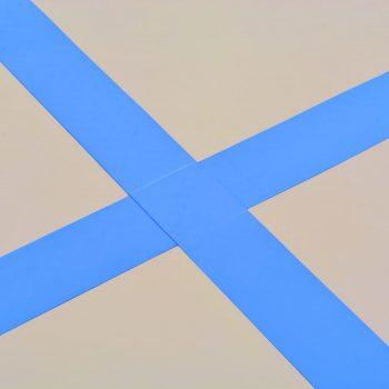 Napihljiva gimnastična podloga s tlačilko 300x100x10 cm modra