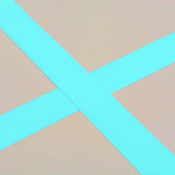 Napihljiva gimnastična podloga s tlačilko 500x100x10 cm zelena