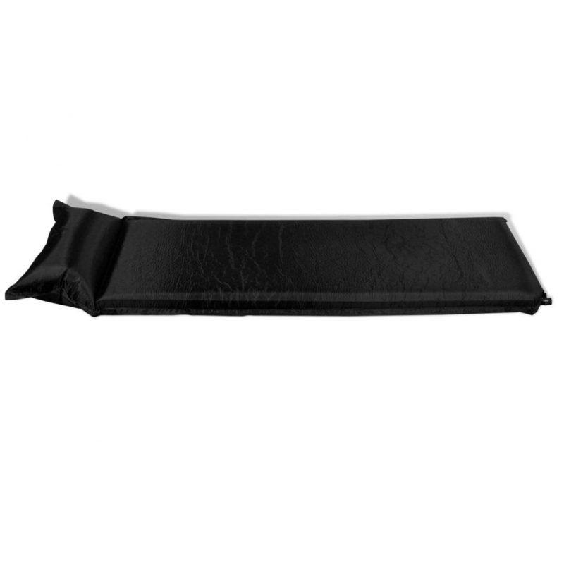 Napihljiva ležišča 10 x 66 x 200 cm črna