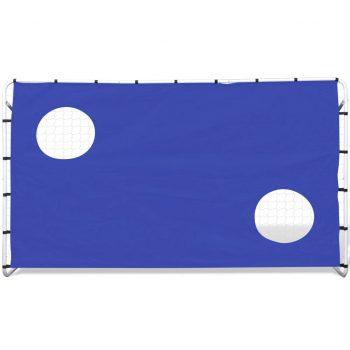Nogometni Gol s Steno za Merjenje Jeklo 240 x 92 x 150 cm