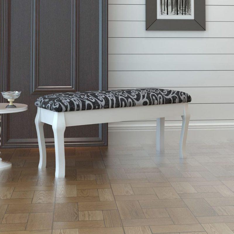 Oblazinjen klopica za toaletno mizico črna 110 cm