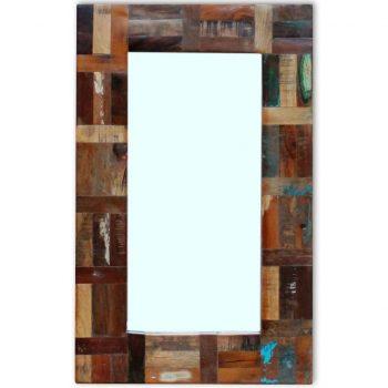 Ogledalo iz Masivnega Predelanega Lesa 80x50 cm