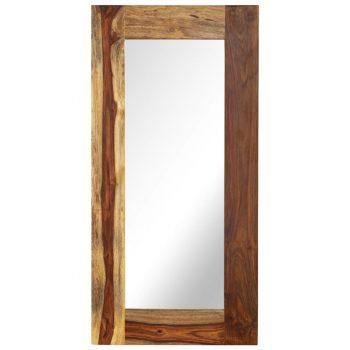 Ogledalo iz trdnega palisandra 50x110 cm