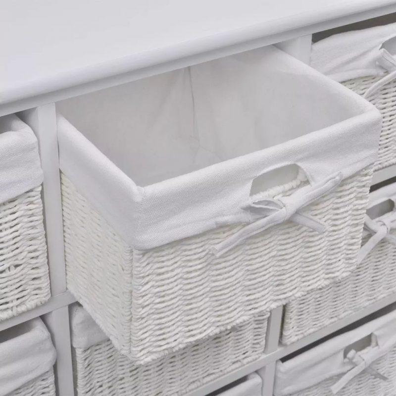 Omarica za shranjevanje bele barve