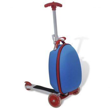 Otroški skiro s kovčkom modre barve