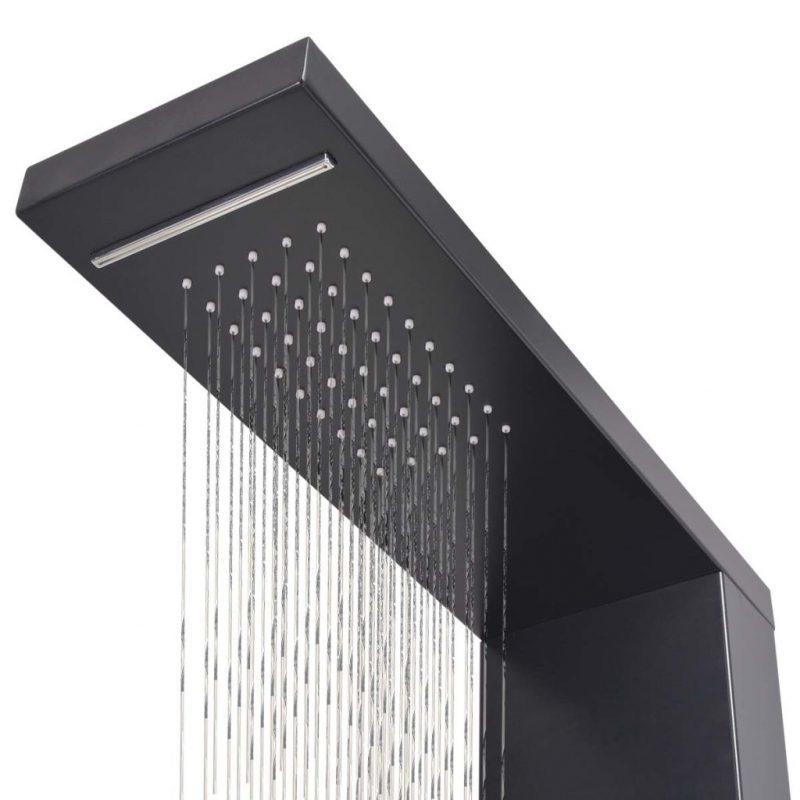 Panel za tuš aluminij mat črne barve