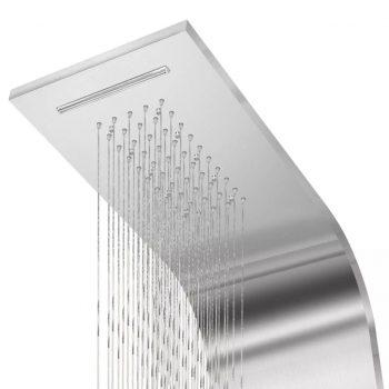 Panel za tuš nerjaveče jeklo zaobljene oblike
