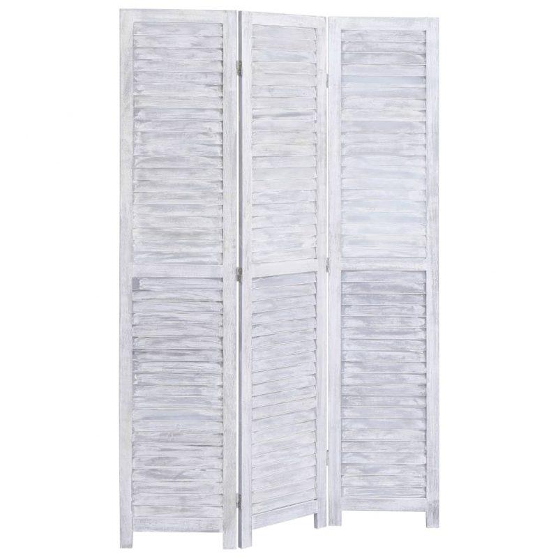 Paravan 3-delni siv 105x165 cm les