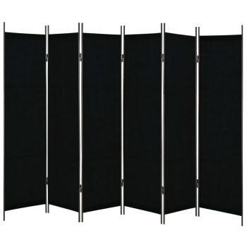 Paravan 6-delni črn 300x180 cm