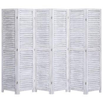 Paravan 6-delni siv 210x165 cm les