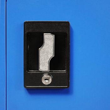 Pisarniška omara iz kovine 90x40x140 cm sive in modre barve