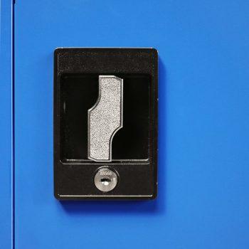 Pisarniška omara kovinska 90x40x90 cm sive in modre barve
