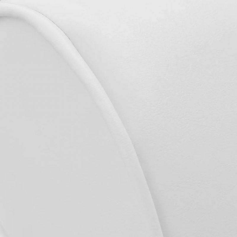 Počivalnik belo umetno usnje