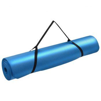 Podloga za jogo 100x190 cm EVA modra