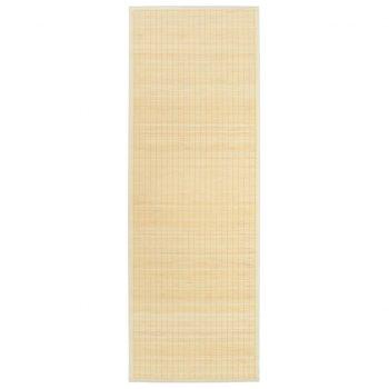 Podloga za jogo iz bambusa 60x180 cm naravna