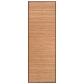 Podloga za jogo iz bambusa 60x180 cm rjava