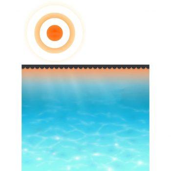 Pokrivalo za bazen črno 488 cm PE