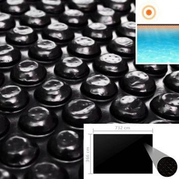 Pokrivalo za bazen črno 732x366 cm PE