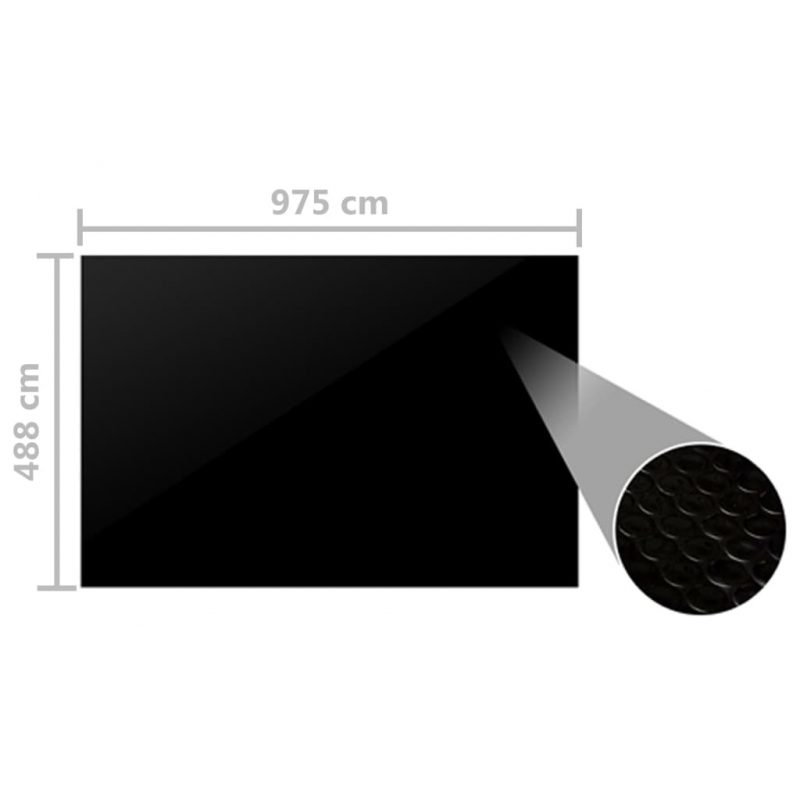 Pokrivalo za bazen črno 975x488 cm PE
