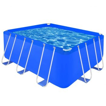 Pravokoten nadzemeljski bazen z jeklenim okvirjem 400 x 207 x 122 cm