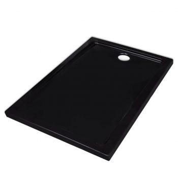 Pravokotna ABS tuš kad črna 70x100 cm