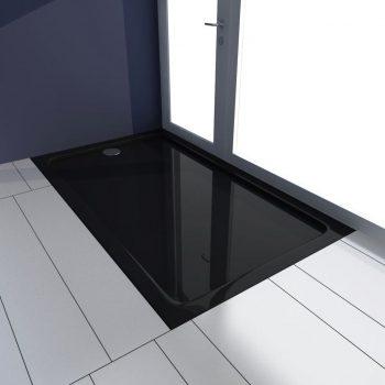 Pravokotna ABS tuš kad črna 70x120 cm