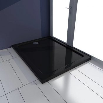 Pravokotna ABS tuš kad črna 70x90 cm