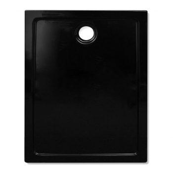 Pravokotna ABS tuš kad črna 80x100 cm