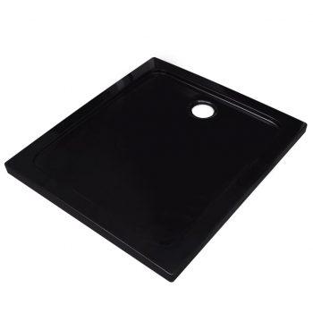 Pravokotna ABS tuš kad črna 80x90 cm