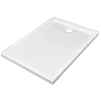 Pravokotna ABS tuš kad bela 70x100 cm