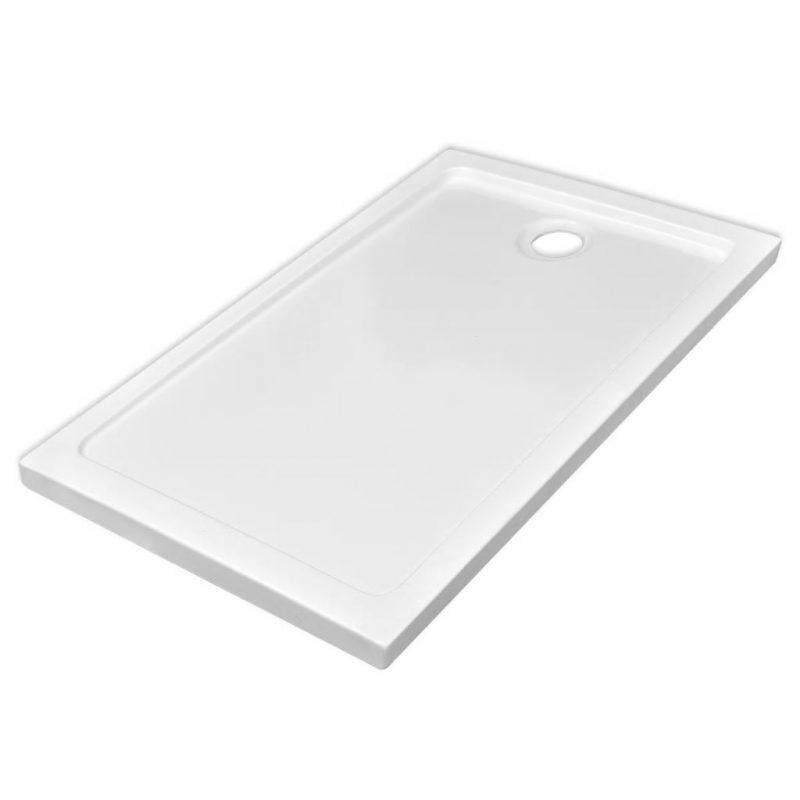 Pravokotna ABS tuš kad bela 70x120 cm