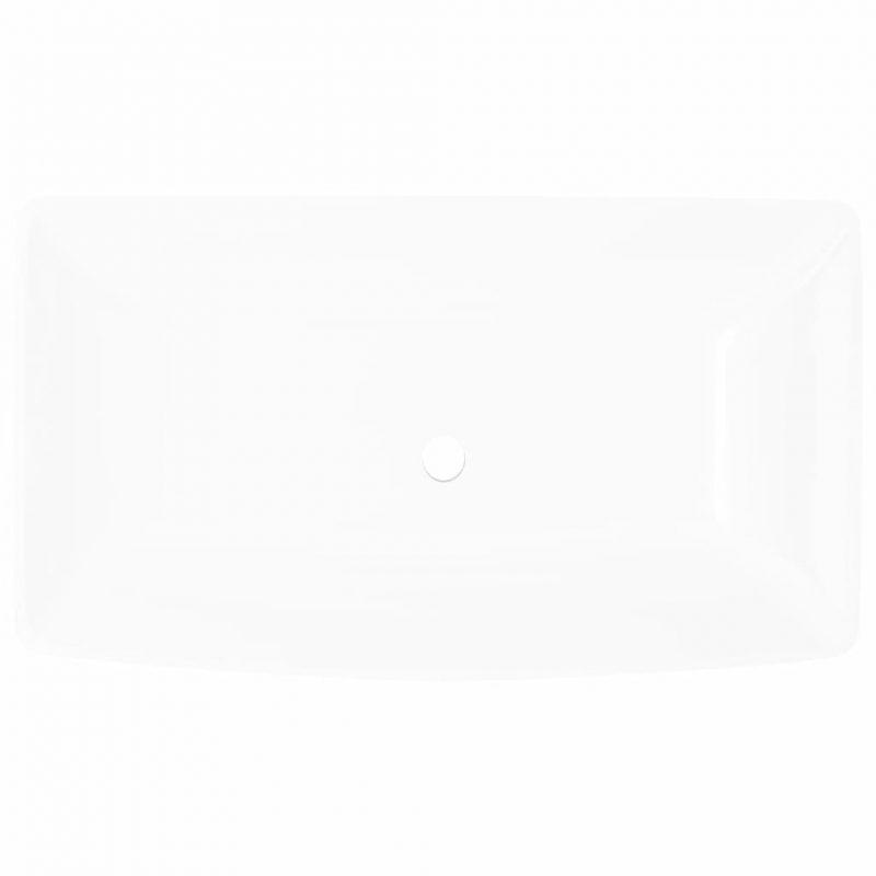 Pravokotni umivalnik bele barve dimenzije 71 x 39 cm
