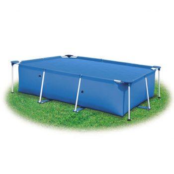 Pravokotno pokrivalo za bazen 260 x 160 cm PE modro
