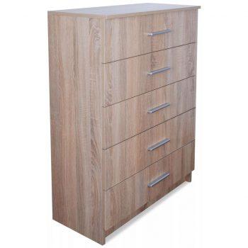 Predalnik za shranjevanje iverna plošča 71x35x108 cm hrast