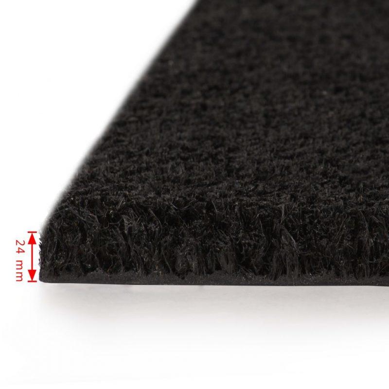 Predpražnik iz kokosovih vlaken 24 mm 100x100 cm črn