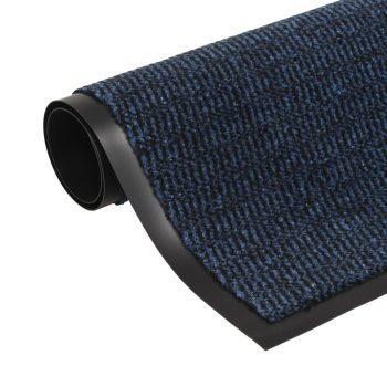 Protiprašni predpražnik pravokotni taftani 80x120 cm moder