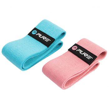 Pure2Improve Komplet vadbenih trakov modri in roza