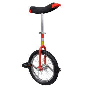 Rdeč prilagodljiv monocikel 16 Inch