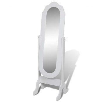 Samostoječe Ogledalo Nastavljivo Bele barve