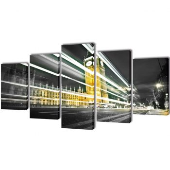 Set platen s printom Big Ben London 100 x 50 cm