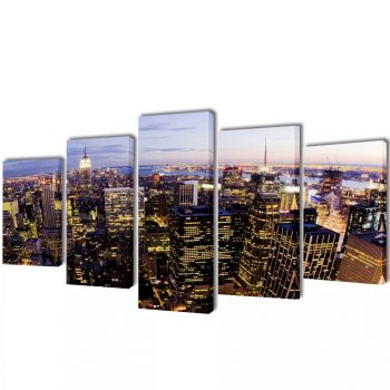 Set platen s printom New York iz zraka 100 x 50 cm