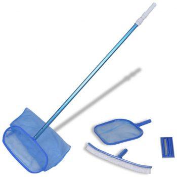 Set za čiščenje bazena lovilca za listje krtače in teleskopska palica