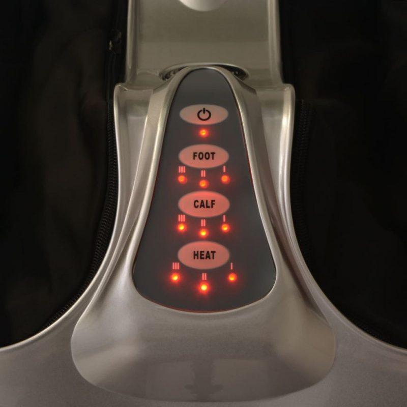 Shiatsu masažni aparat za stopala in meča srebrne barve