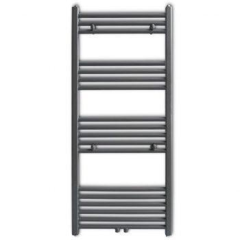 Siv Kopalniški Cevni Radiator za Brisače Ravne Cevi 500 x 1160 mm