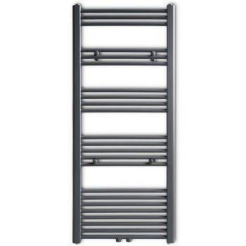 Siv Kopalniški Cevni Radiator za Brisače za Centalno 600 x 1424 mm