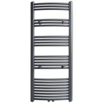 Siv Kopalniški Cevni Radiator za Centralno Ogrevanje 600 x 1424 mm