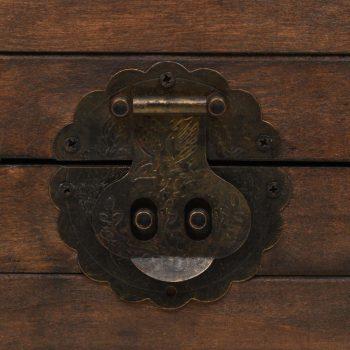 Skrinja za shranjevanje iz trdnega lesa starinska 120x30x40 cm